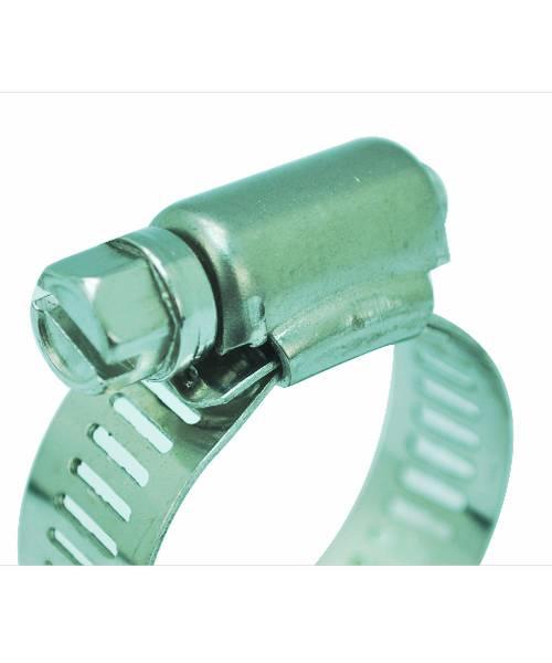VAVO กิ๊ปรัดสายยางกว้าง ขนาด 1/2นิ้ว - สีเงิน
