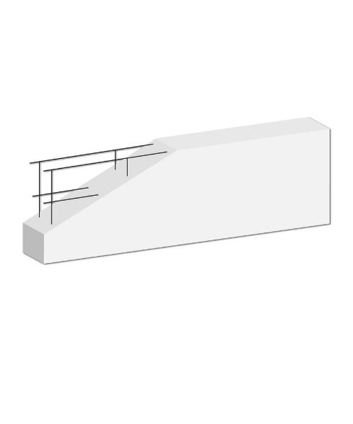 DURA One คานทับหลังดูร่าวัน  7.5x20x150 ซม. สีขาว