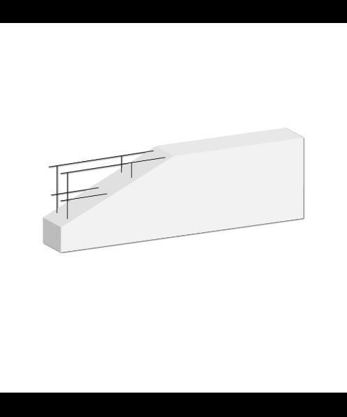 DURA One คานทับหลังดูร่าวัน  7.5x20x180 ซม. สีขาว