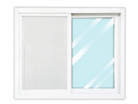 Wellington หน้าต่างอลูบานเลื่อนสีขาว กระจกสีเขียว SS 120cm.x100cm.  WGW1210-2P พร้อมมุ้ง  สีขาว