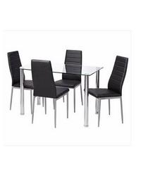 Pulito โต๊ะอาหาร KIEL&ANN สีดำ