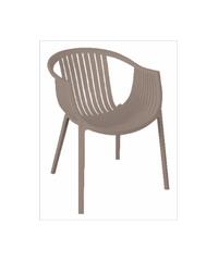 เก้าอี้โมเดิร์นพลาสติก  KML009LBR น้ำตาล