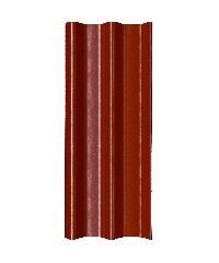 โอฬาร กระเบื้องลอนคู่ 5 มม. 50*150 ซม.(ลูกโลก) สีหมากแดง ลอนคู่