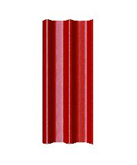โอฬาร กระเบื้องลอนคู่ 5 มม. 50*150 ซม.(ลูกโลก) สีแดงรุ่งอรุณ ลอนคู่ สีแดง