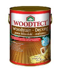 WOODTECT สีย้อมพื้นไม้ WD504 สีแดง