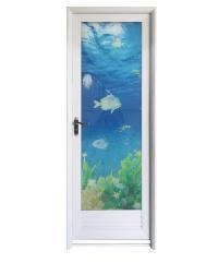 Wellingtan ชุดประตูอลูมิเนียม ลายปลา ขนาด 70x200cm. ALD-LS9693L