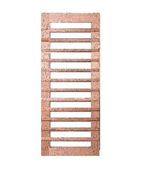 BEST ประตูไม้สยาแดงทำช่องกระจก(ฝ้า) ขนาด 80x200 (ทำสี) GS-59