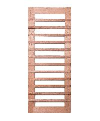 BEST ประตูไม้สยาแดง ทำช่องพร้อมกระจกใส  120x220ซม. ทำสี GS-59