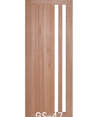 BEST ประตูไม้สยาแดง 100x240cm. GL-60
