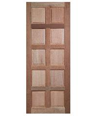 BEST ประตูไม้สยาแดง  ขนาด 80x200 cm.                             GS-49