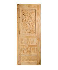 BEST ประตูไม้สน  ขนาด 80x200 cm. GC-34