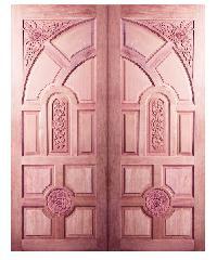 BEST ประตูไม้สยาแดง ขนาด 90x200 c.m. GC-01ทึบ