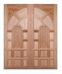 BEST ประตูไม้สยาแดง ขนาด 90x200 cm.                                GC-02ทึบ