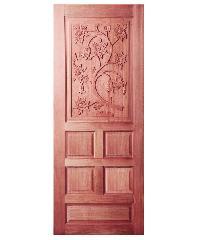 BEST ประตูไม้สยาแดง ขนาด 90x200 cm.                               GC-34