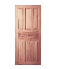 BEST ประตูไม้สยาแดง ขนาด 80x180 cm.                               GC-32