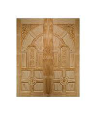 BEST ประตูไม้สน ขนาด 80x225 cm. GC-01ทึบ