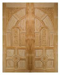 BEST ประตูไม้สน ขนาด 80x200 cm. GC-01ทึบ