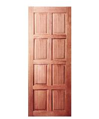 BEST ประตูไม้สยาแดง ขนาด 80x180 cm.                              GS-48