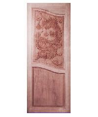 BEST ประตูไม้สยาแดง ขนาด80x220 cm. GC-10