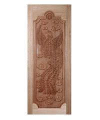 BEST ประตูไม้สยาแดง ขนาด100x200 cm.  GC-16