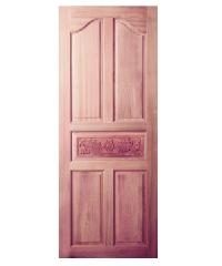 BEST ประตูไม้สยาแดง บานทึบลูกฟักแกะลาย  ขนาด 70x180cm.  GC-52