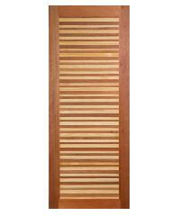BEST ประตูไม้สยาแดง ขนาด 80x200 cm GL-02
