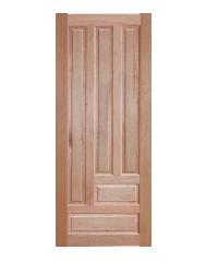 BEST ประตูไม้สยาแดง บานทึบลูกฟัก 80x180cm.  GS-03