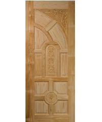 BEST ประตูไม้สน 90x200 cm. GC-01
