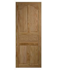 BEST ประตูไม้สน บานทึบ 5ฟักแกะลาย  90x200cm.  GC-52