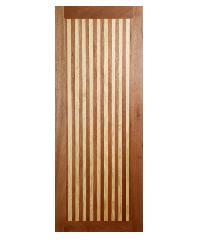 BEST ประตูไม้สยาแดง ขนาด 80x220 cm.(ทำสี) GL-01