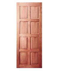 BEST ประตูไม้สยาแดง ขนาด 80x150 cm. GS-48