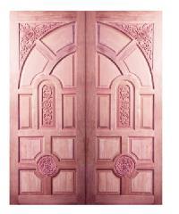 BEST ประตูไม้สยาแดง  80x180cm. GC-01