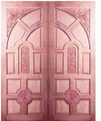 BEST ประตูไม้สยาแดง81x187cm. GC-01