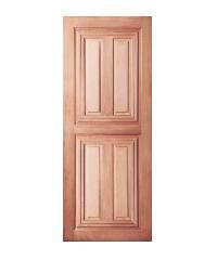 BEST ประตูไม้สยาแดง 60x220cm. BEST GS-43
