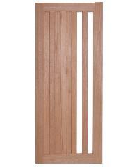BEST ประตูไม้สยาแดงกระจก ขนาด 40x220cm. BEST  GS-47