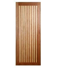 BEST ประตูไม้สยาแดง ขนาด 40x200cm. GL-01