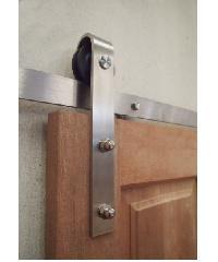 BEST วงกบประตูไม้เนื้อแข็งพร้อมชุดรางเลื่อน ขนาด160x200cm. -