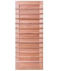 BEST ประตูไม้สยาแดง  ขนาด124x237cm. ทำสีโอ๊ค  GS-59