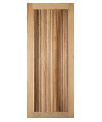 BEST ประตูไม้สยาแดง บานทึบลายลูกฟูก  80x200cm.   GS-71