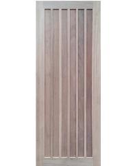 BEST ประตูไม้สยาแดง บานทึบ 90x200cm. GS-73