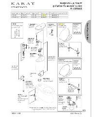karat ชุดฝารองนั่ง รุ่นฟลอเรนซ์ / ซอเรนโต้ แบบอีลองเกต K-98446X-WK - สีขาว