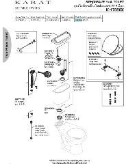 karat อุปกรณ์ถังพักน้ำ ไซฟ่อนเซฟ 73/วอชเซฟเวอร์/คาปรี  พร้อมมือบิด สีขาว