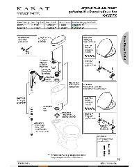 karat อุปกรณ์ถังพักน้ำ เจ็ทสตาร์ พลัส พร้อมมือบิด 1154501-SP-CP สีขาว