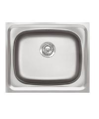 ADVANCE อ่างล้างจาน 1 หลุมไม่มีที่พัก พร้อมสะดือB ท่อนํ้าทิ้งแบบย่น  AV060 MB