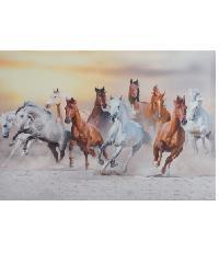 NICE รูปภาพพิมพ์ผ้าใบ Fengshui ขนาด 70x50 ซม. (ก.xส.) (กลุ่มม้าวิ่ง) C7050-7