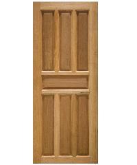 JP.W. ประตูไม้เนื้อแข็ง 7 ฟัก โมเดิร์น 80x200cm. jpw