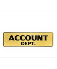 Cityart nameplate ป้าย ACCOUNT DEPT. SGB9101 สีทอง