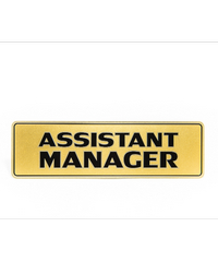 Cityart nameplate ป้ายASSISTANT MANAGER SGB9101 สีทอง