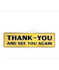 Cityart nameplate ป้ายTHANK-YOU SGB9101 สีทอง