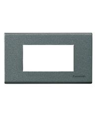 PANASONIC ฝาพลาสติก 3ช่อง WEG6803MH Metallic Gray